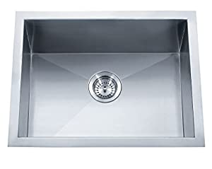 Dakota Sinks : Dakota Signature Single Bowl 19x15 Zero Radius 16g Stainless Steel ...