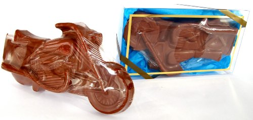 Christmas Gift, Stocking Stuffer Solid Milk Chocolate Candy Gift Boxed Motorcycle Motor Bike For Adults & Children