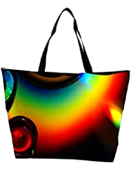 Snoogg Abstract Colourful Water Drops Designer Waterproof Bag Made Of High Strength Nylon