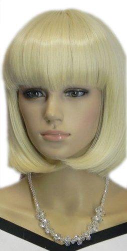 Yazilind Silky Short Straight Bob Light Blonde Synthetic