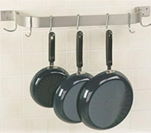 Cheap Advance Tabco SW1-36RE – Residential Stainless Steel Wall Mounted Pot Rack, 6 Hook, 36 in Long (B0029SGFYG)