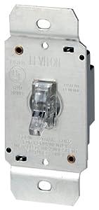 Leviton 6691 600W Incandescent Toggle Dimmer, Single Pole, Clear