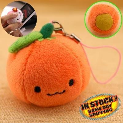 Orange Mikan Chan Plush Doll Phone Strap