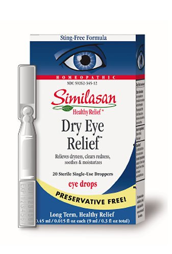 Similasan Preservative-Free Dry Eye Relief Eye Drops, .015-Ounce Single-Use Droppers in 20-Count Boxes (Pack of 2)