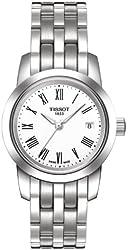 Tissot Classic Dream White Dial SS Quartz Ladies Watch T0332101101300