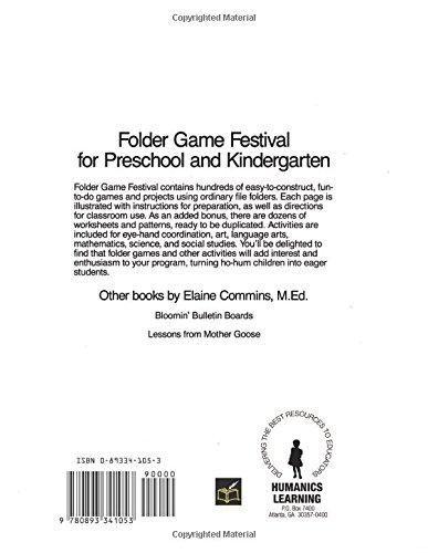 Folder Game Festival: For Preschool and Kindergarten