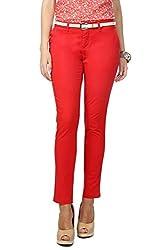 Honey by Pantaloons Women's Trouser (301177724_Red_32)