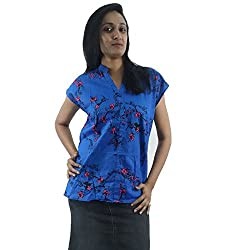 ShopMore Cotton Top(Blue_Medium)