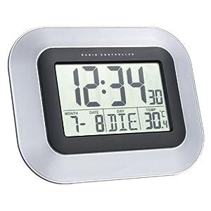 La Crosse Technoline Horloge murale dcf avec calendrier et affichage de la temperature