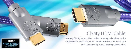 Monkey Clarity MCY1 HDMI 19-PIN Male HDMI-HDMI 1m Cable Black Friday & Cyber Monday 2014