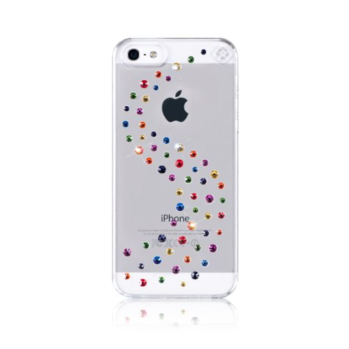 Special Sale Bling-My-Thing Milky Way Series Transparent Case for iPhone 5 (Rainbow Mix)