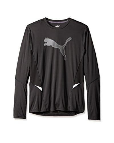PUMA Men's Nightcat Logo Long Sleeve Tee