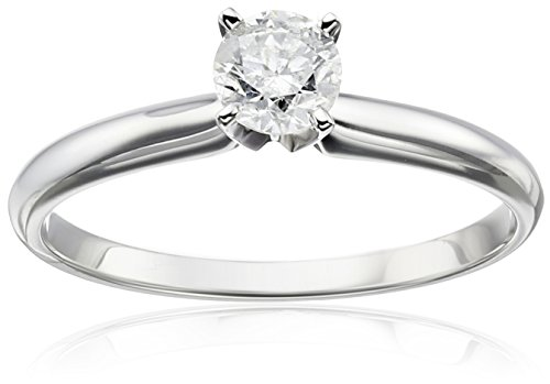 14k Gold Round Solitaire Diamond Engagement Ring (1/2 cttw, H-I Color ...