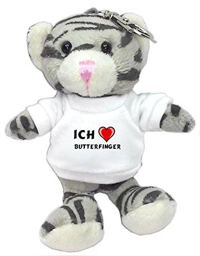 plusch-graue-katze-schlusselhalter-mit-t-shirt-mit-aufschrift-ich-liebe-butterfinger-vorname-zuname-
