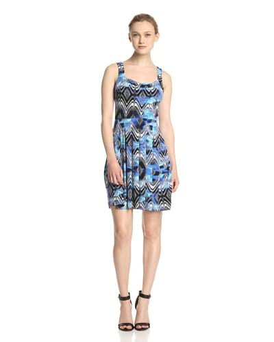 Ali Ro Women's Printed Dress with Pleated Skirt