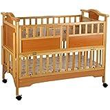Mee Mee MM-983 Baby Wooden Cot (Brown)