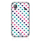 Ecell - HEAD CASE PINK TURQUOISE MULTI-COLOURED HEARTS CASE FOR SAMSUNG GALAXY ACE S5830