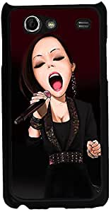 Printvisa 2D-SGSA-D7893 Music Singer Case Cover For Samsung Galaxy S Advance I9070
