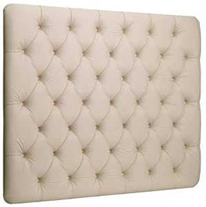 King Size Bed Roma Faux Leather Headboard (White)       Customer reviews