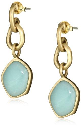 Bronzed by Barse Amazonite Dangle Earrings