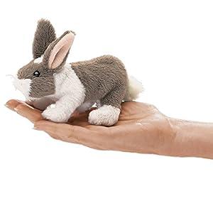 Folkmanis Mini Bunny Rabbit Finger Puppet from Folkmanis Puppets
