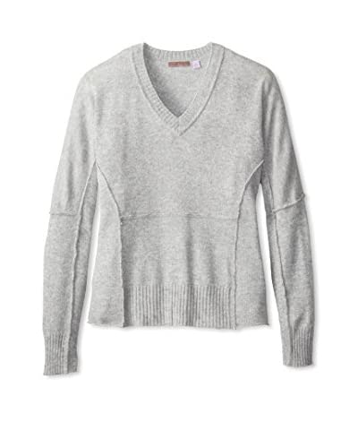 Cullen Women's Exposed Seam Dolman V-Neck Sweater