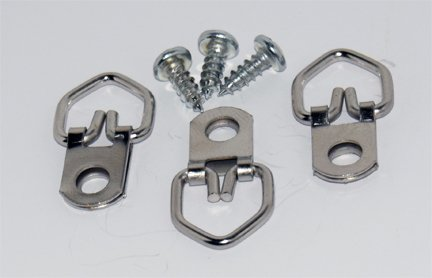 D Ring Picture Hangers 100-Pack Heavy Duty with Screws (Adhesive D Ring compare prices)