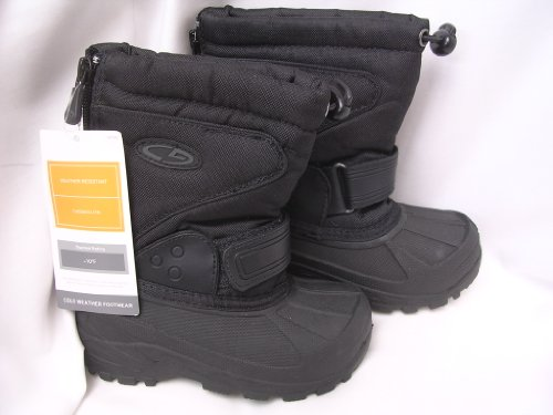 Toddlers Boots for Winter Snow ; Weather Resistant Thermolite ; Toddler Size 7 Black