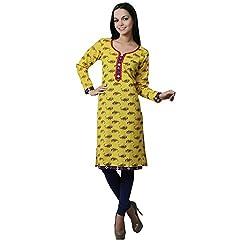 Ruzzell printed yellow kurti