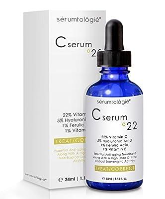Vitamin C serum 22 by serumtologie® Anti Aging Moisturizer - 1.15 oz