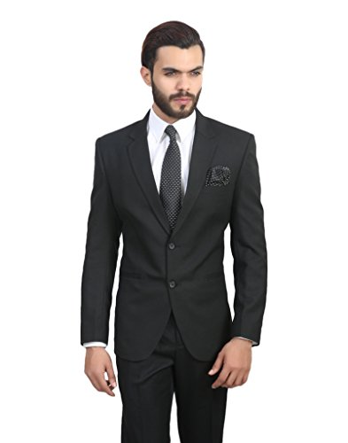 ManQ Black Slim Fit Formal/Party Men's Blazer