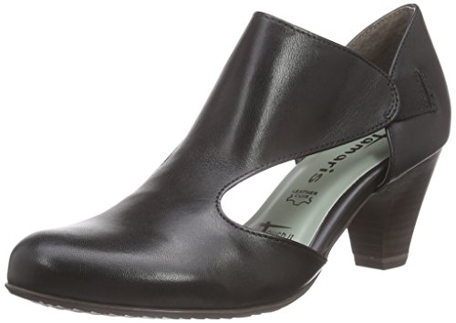 Tamaris24406 - Scarpe con Tacco Donna , Nero (Schwarz (BLACK LEATHER 003)), 37