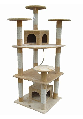 Go Pet Club 70″ Tall Beige Cat Tree Furniture