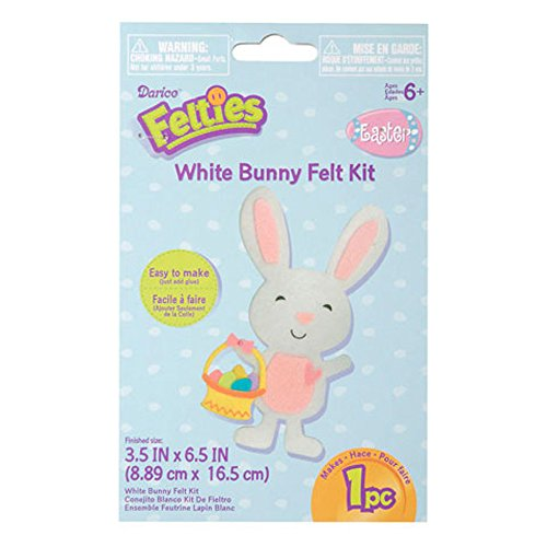 Felties White Bunny Felt Kit - Craft Kits for Children (Pack of 3)