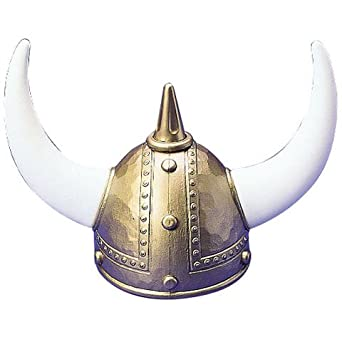 One Adult Plastic Viking Helmet