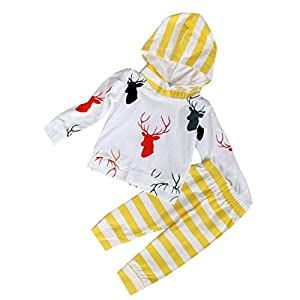 HANYI Newborn Infant Baby Tops+ Pants Set