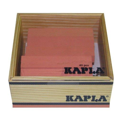 KAPLA C40 Rose Holzplättchen, 40 Steine, rosa