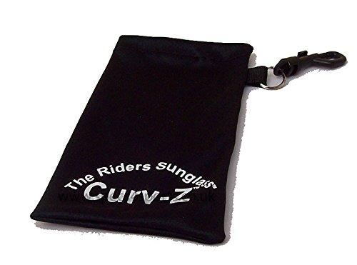 Curv-Z-rembourr-Motard-Biker-Moto-pour-lunetteslunettes-de-soleil--verres-effet-miroir-avec-Jet-Bleu