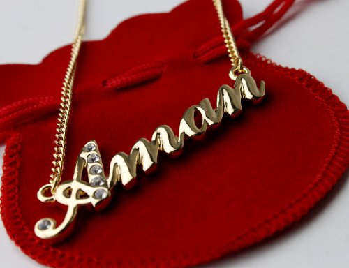 "Name Necklace ""Aman"" 18K Gold Plated"
