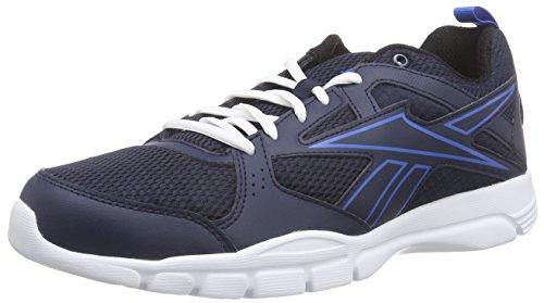 Reebok - Trainfusion 5.0, Scarpe Da Ginnastica da uomo, blu (faux indigo/cycle blue/black/white), 44.5