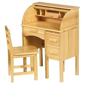 Guidecraft Jr. Roll-top Desk, Light Oak