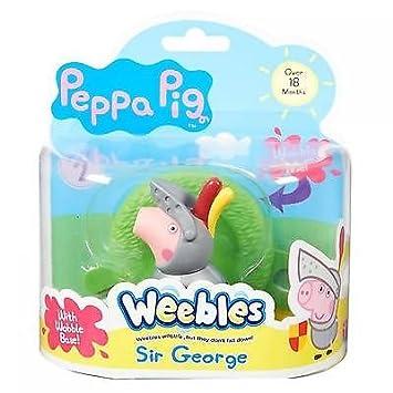 Peppa Pig - Weebles - Sir George - Figurine Culbuto 5 cm