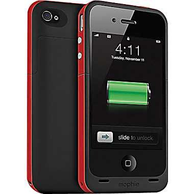 Red Mophie Juice Pack Plus - iPhone 4  4S Battery Case 赤