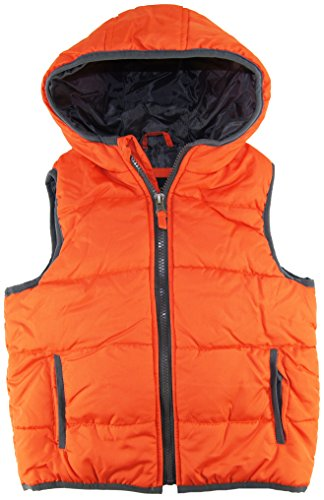 Ixtreme Little Boys 4-7 Puffer Vest With Hood, Orange, 6 front-159872