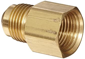 Anderson Metals Brass Compression Tube Fitting, Coupling, Flare x NPT Female