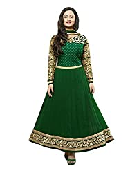 Accurate Collection Women's Georgette Unstitched Dress Material (MACCU44802657590_Green_Free Size)