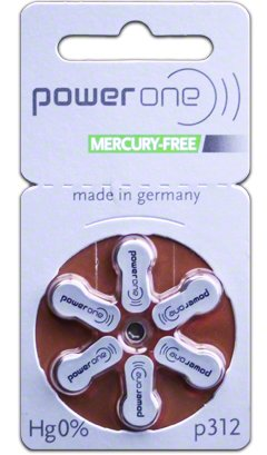 Power One Size 312 MERCURY FREE Hearing Aid Batteries (60 batteries) (Power One 312 Batteries compare prices)