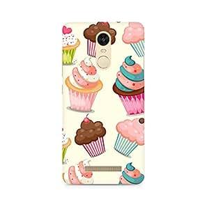 Ebby Cute Cupcakes Premium Printed Case For Xiaomi Redmi Note 3