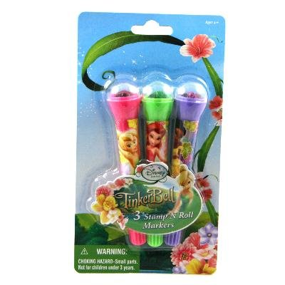 3ct Tinker Bell Stamp N' Roll Markers - 1