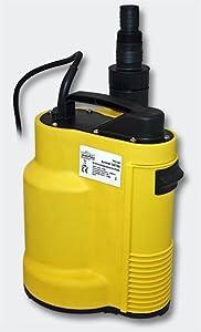 Flachsauger bis 3 mm Schmutzwasserpumpe bis 5mm 8500l/h  550W  Tauchmotorpumpe Automatik  Manuell  BaumarktBewertungen